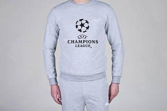 Свитшот мужской UEFA  серый