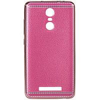 Накладка Xiaomi Note 3 розовая для смартфона (150 x 76 мм) чехол защитный от пыли и следов пальцев с текстурой