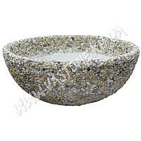 Вазон «Чаша» Мрамор кремовый