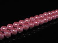 Бусы из магнитной маёрки, 10мм, розовый