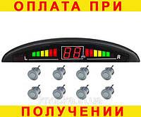 Парктроник (парковочная система) 8 датчиков серый