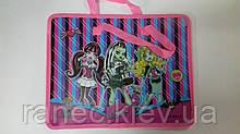 Папка с тканевыми ручками Мультяшки (для девочек) Monster High 7416M Мультяшки