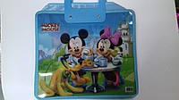Папка - портфель с пластмассовыми ручками Микки Маус А4