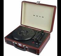 Граммофон  BUSH   ретро чемодан коричневый