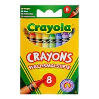 CRAYOLA МЕЛКИ 8 разноцветных стандартных восковых мелков