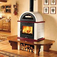 Печь-камин на дровах Piazzetta Momf с духовкой