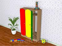 Шкаф детский трёхсекционный цветной (919*270*1250h)