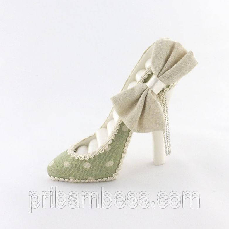 Подставка под кольца туфелька зеленая