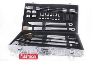Набор инструментов для барбекю из нержавеющей стали в чемодане (21 пр./наб.) Fissman (BQ-1016.21)
