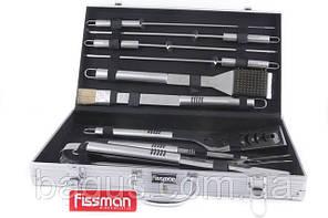 Набор инструментов для барбекю из нержавеющей стали в чемодане (10 пр./наб.) Fissman (BQ-1014.10)
