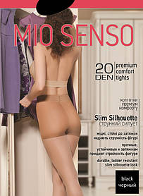 "Колготки Mio Senso ""Slim Silhouette 20 den"" black, size 2 (3639) | 5 шт."