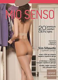 "Колготки Mio Senso ""Slim Silhouette 20 den"" caramel, size 2 (3738) | 5 шт."
