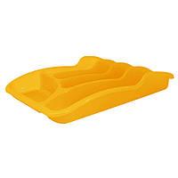 Лоток для столовых приборов ТМ Алеана 33*25*6,0 оранжевий-прозрачный, голубой, оливковый, бежевый, желтый, сал