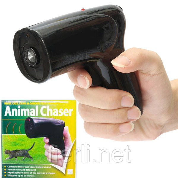 Ультразвуковый отпугиватель собак и кошек U.S. Patrol JB5465 (с лазером).