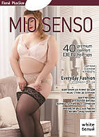 "Чулки Mio Senso ""EverydayFashion 40 den"" floral PlusSize white, size 5 (4636) 