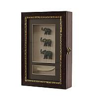 """Ключница  настенная, деревянная -""""Три Слона"""""""