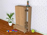 Шкаф детский трёхсекционный с лавкой (919*320*1400h)