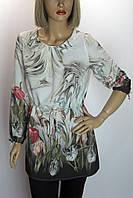 Блузка  с цветочным принтом Big Dart