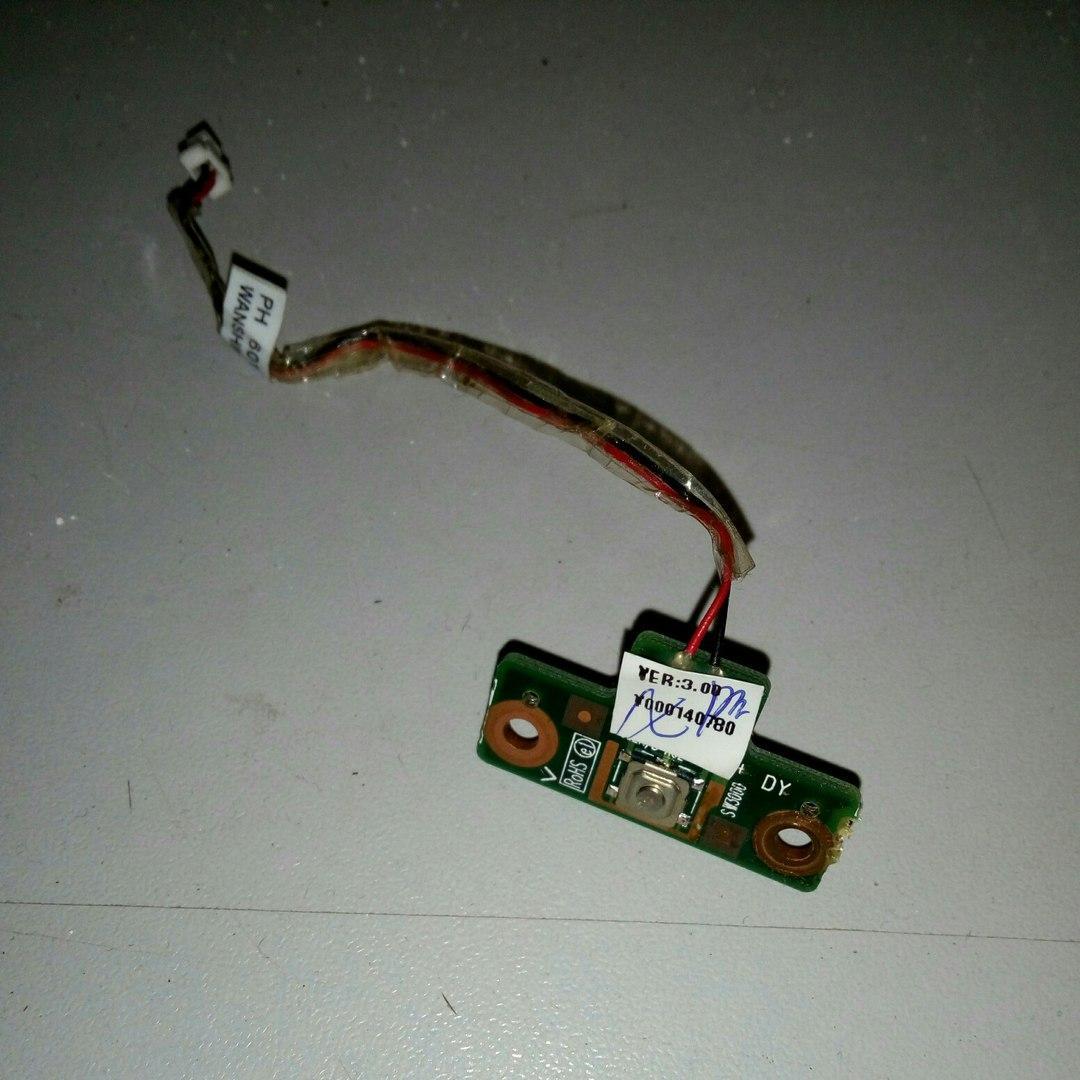 Плата кнопка ВКЛ Toshiba Satellite L350D