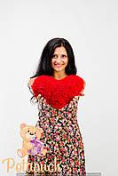 Большое мягкое плюшевое сердце подушка 30 см
