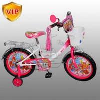 Велосипед детский мульт 12 дюймов P1252W-BВинкс, корзина,кисточки на руле.