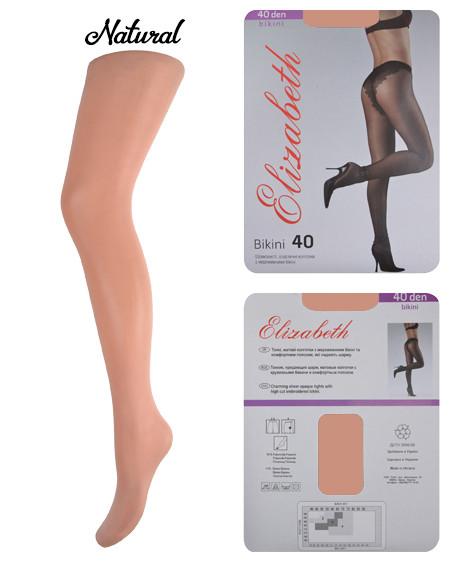 Колготки Elizabeth 40 den Bikini Charm Natural р.4 (00120)   5 шт.