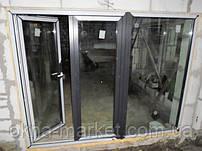 Ламинированные окна и двери входные REHAU, установка в Буче КООП Вишнёвый (бригада №5)