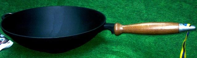 Сковорода вок (wok) чугунная  260х80мм «Ситон»