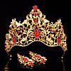 Диадема МАДОННА корона и серьги набор красная корона высокая для волос