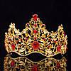 Диадема МАДОННА корона и серьги набор красная корона высокая диадемы свадебные аксессуары для волос, фото 2