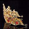 Диадема МАДОННА корона и серьги набор красная корона высокая диадемы свадебные аксессуары для волос, фото 3