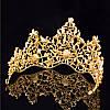 Диадема МАДОННА корона и серьги набор красная корона высокая диадемы свадебные аксессуары для волос, фото 4
