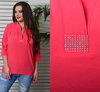 Женская блуза со стразами, с 46-52 размер