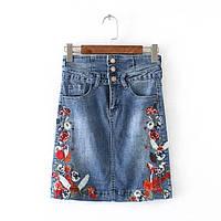 Ровная джинсовая юбка, фото 1