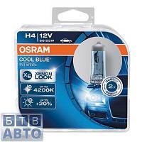 Автолампа Osram H4 12V 55W 4200K P43T / COOL BLUE INTENSE - НА 20% БОЛЬШЕ СВЕТА НА ДОРОГЕ (БЕЛО-ГОЛУБОЙ СВЕТ)