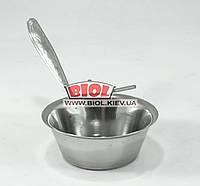 Кокотница 110мл (жульенница, соусница) из нержавеющей стали с ручкой