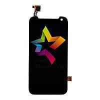 Дисплей для мобильного телефона HTC Desire 310 One Sim, черный, с тачскрином (128*63,5 мм)