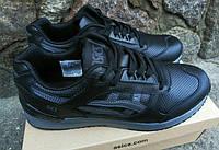 Черные кожаные кроссовки легенда Asics Gel Супер шикарное качество