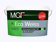 Водно-дисперсионная краска для стен и потолков Eco Weiss MGF 7кг