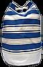 Женский пляжный рюкзак синяя полоска UUU-000022