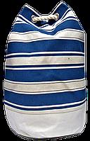 Женский пляжный рюкзак синяя полоска UUU-000022, фото 1