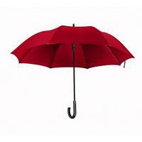 Зонт-трость полуавтомат, с карбоновым держателем, прорезиненная ручка, красный, от 10 шт.