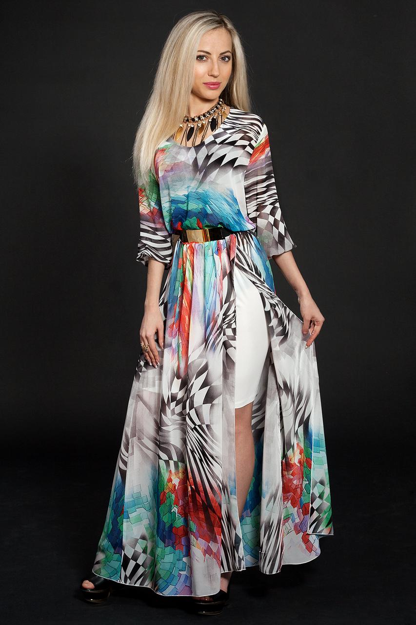Платье шифоновое мод 432-1,размер 48-50
