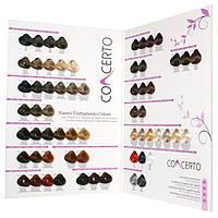 Палитра крем-красок для волос с кератином, витамином С, экстрактом мальвы  CONCERTO