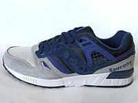 Мужские синие с серым кроссовки Saucony G.R.I.D. Приятный очень красивый цвет. Новинка