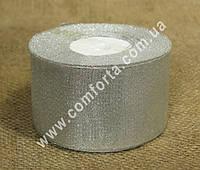 33772700 Лента парчовая серебристая в рулоне, ширина ~ 5 см, длина ~ 23 м