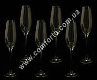 31587-06 SK Celebration, набор бокалов для шампанского без декора (6 шт), высота ~ 26,5 см, объем ~ 210 мл