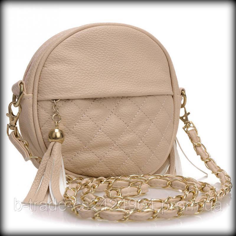 832b80cd2169 Женская сумочка Chanel Шанель стеганая круглая - Интернет-магазин