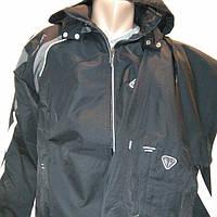 Спортивный костюм мужской из плащевой ткани черный Соккер