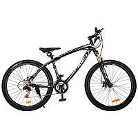 """Велосипед 26 дюймов G26UTILITY A26.1 алюминиевая рама 19"""", Shimano 21SP, алюм.DB, двойной обод, черно-голубой"""